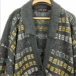 ESCADA By SRB Sweater Wool Mohair Alpaca Cardigan